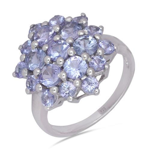TANZANITE CLUSTER RING #VR012629