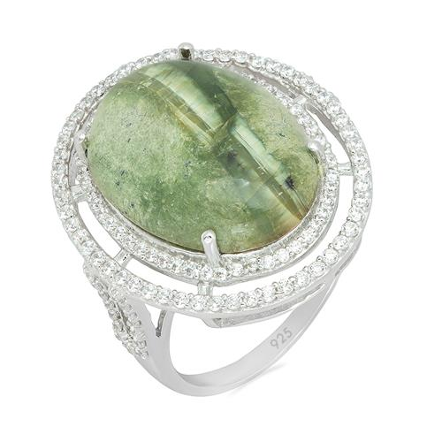 GREEN OPAL WITH WHITE ZIRCON #VR08442