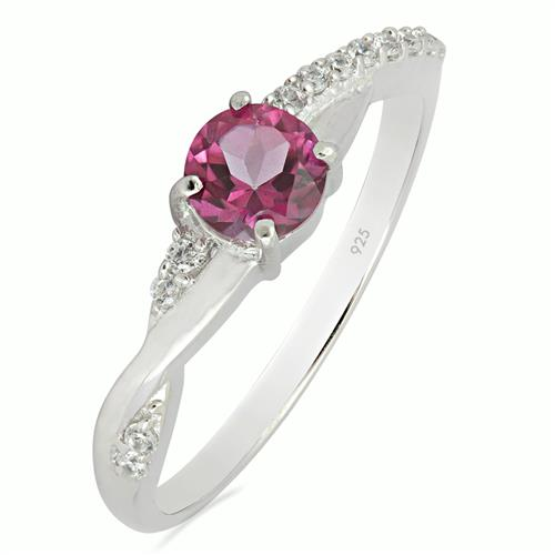 PINK TOPAZ RING WITH WHITE ZIRCON #VR012722