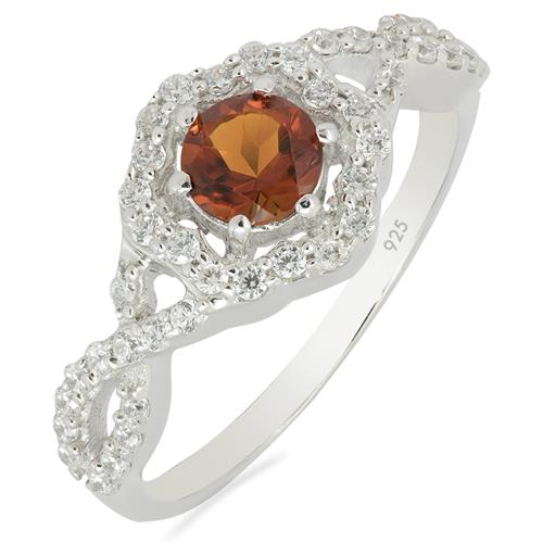 MADEIRA CITRINE RING WITH ZIRCON #VR010836