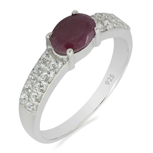 RUBY RING WITH ZIRCON  #VR012265