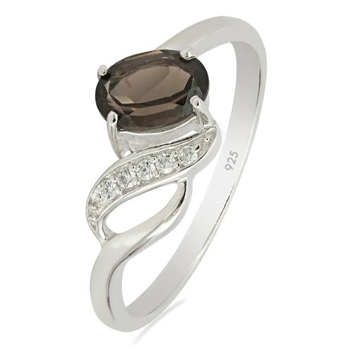 SMOKY RING WITH ZIRCON #VR013215