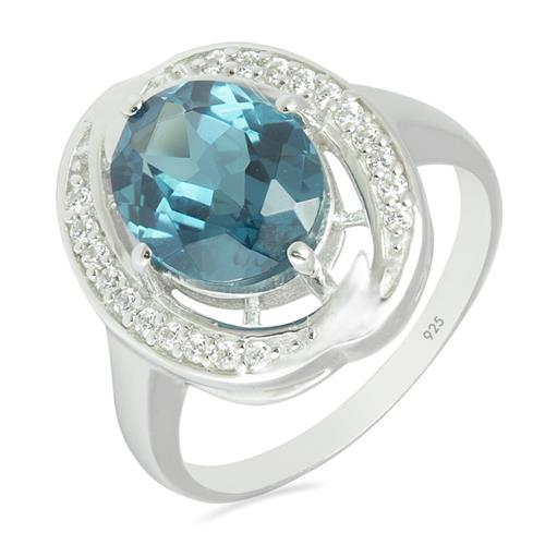 LONDON TOPAZ  RING WITH WHITE ZIRCON #VR010457
