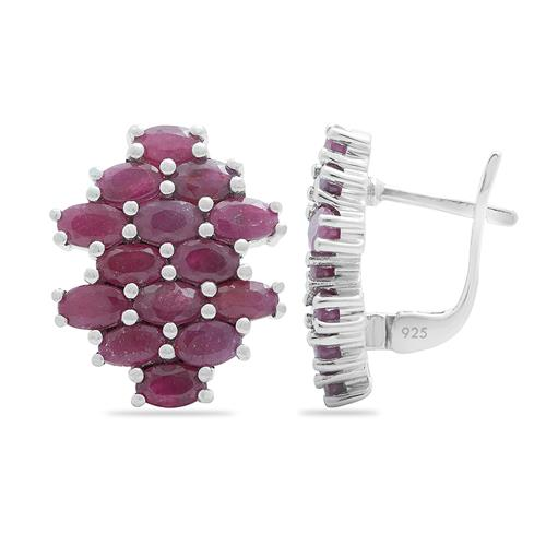 RUBY CLUSTER EARRING #VE012204