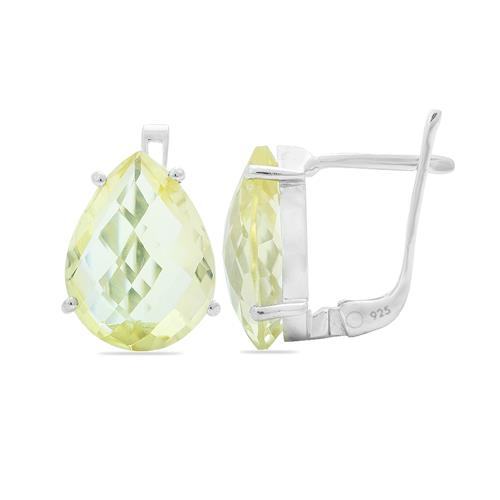 LEMON TOPAZ EARRING #VE012686
