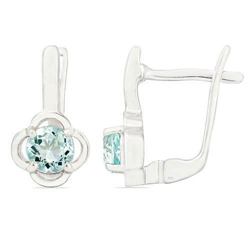 BLUE TOPAZ EARRING #VE012793