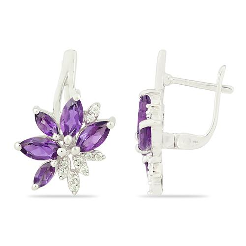 AMETHYST EARRING WITH ZIRCON #VE012933