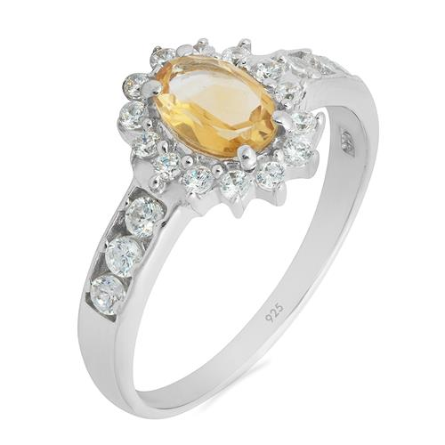 CITRINE RING WITH ZIRCON #VR07586
