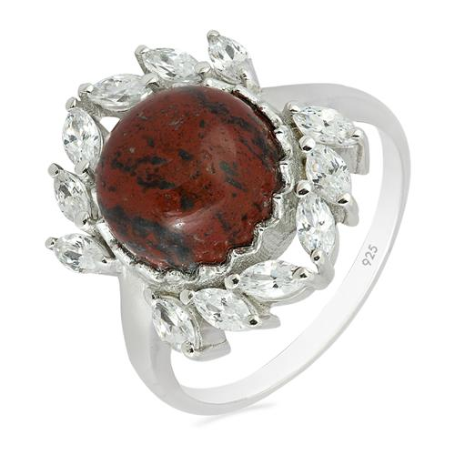 RED JASPER RING WITH ZIRCON #VR013594