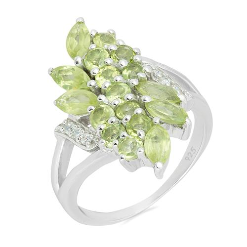 PERIDOT RING WITH ZIRCON #VR05109