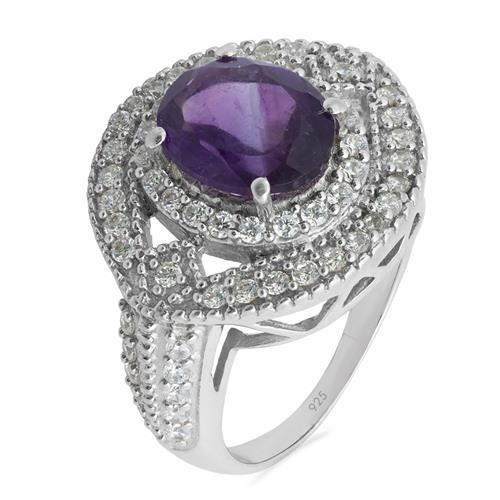 AMETHYST RING WITH ZIRCON #VR09181