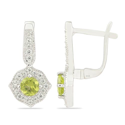PERIDOT EARRING WITH ZIRCON