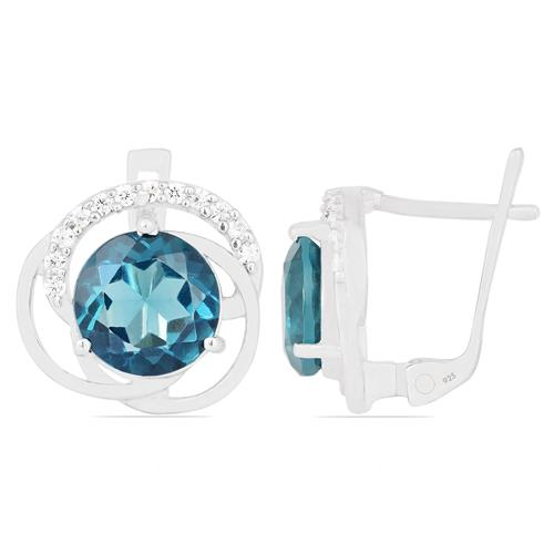 LONDON TOPAZ  EARRING WITH ZIRCON #VE08284