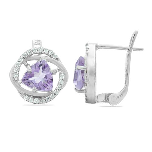 AMETHYST EARRING WITH ZIRCON #VE08313