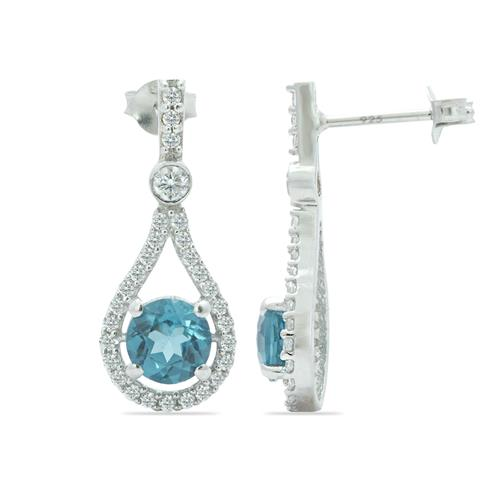 LONDON TOPAZ EARRING WITH ZIRCON #VE011229