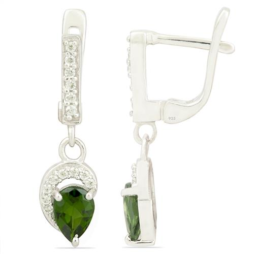 CHROME DIOPSITE EARRING WITH ZIRCON #VE012792