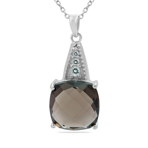 SMOKY PENDANT WITH ZIRCON #VP013699