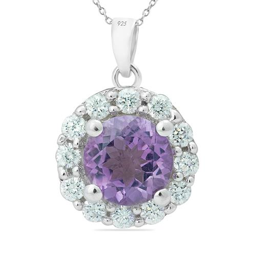 AMETHYST PENDANT WITH ZIRCON #VP05561