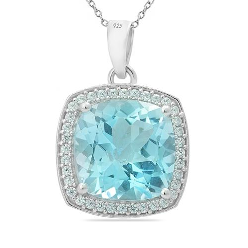 SKY BLUE TOPAZ PENDANT WITH ZIRCON #VP011232