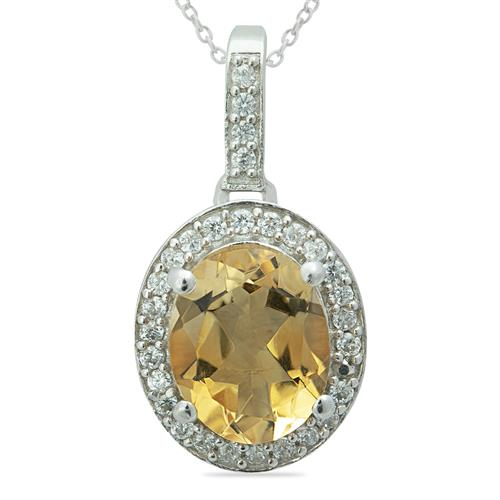 CITRINE PENDANT WITH ZIRCON #VP08150