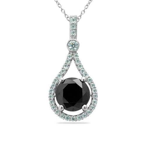 BLACK ONYX PENDANT WITH ZIRCON #VP011229