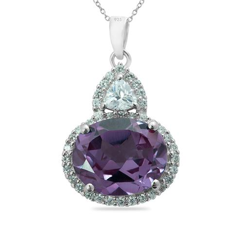 ALEXANDRITE PENDANT WITH ZIRCONS #VE011211