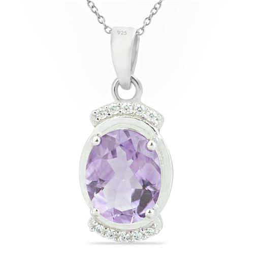 BRAZILIAN AMETHYST PENDANT WITH ZIRCON #VP014689