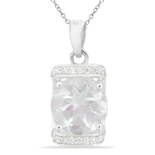 ROSE QUARTZ PENDANT WITH WHITE ZIRCON ZIRCON #VP014695