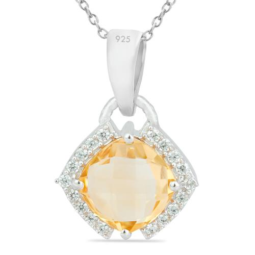CITRINE PENDANT WITH WHITE ZIRCON #VP016188
