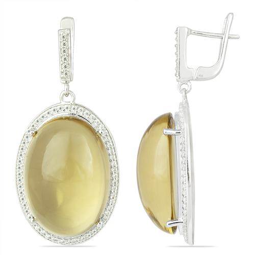 LEMON TOPAZ EARRING WITH ZIRCON