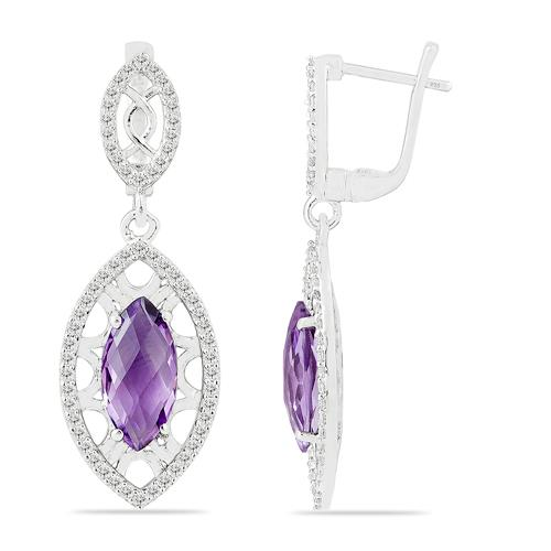 BRAZILIAN AMETHYST EARRING WITH WHITE ZIRCON #VE015067