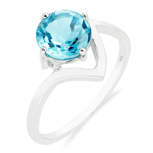 SWISS BLUE TOPAZ RING #VR015676