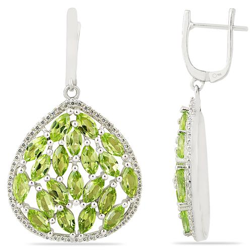 PERIDOT EARRING WITH ZIRCON #VE014310