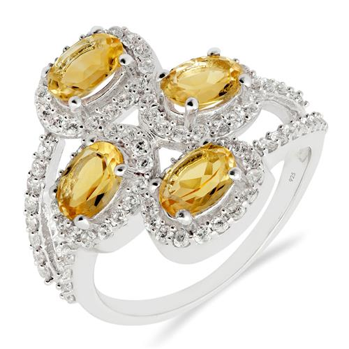 CITRINE RING WITH WHITE ZIRCON #VR012708