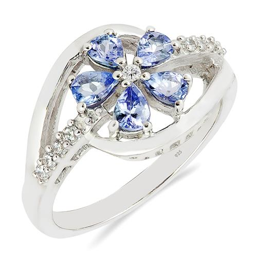 TANZANITE RING WITH ZIRCON #VR016127