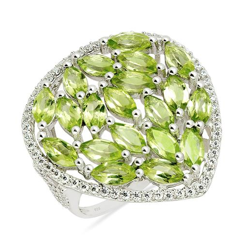 PERIDOT RING WITH ZIRCON #VR014310