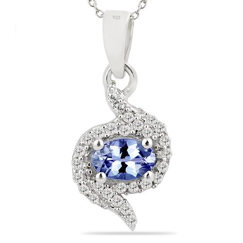 TANZANITE PENDANT WITH ZIRCON