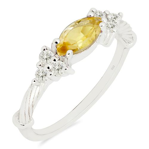 LEMON TOPAZ RING WITH ZIRCON