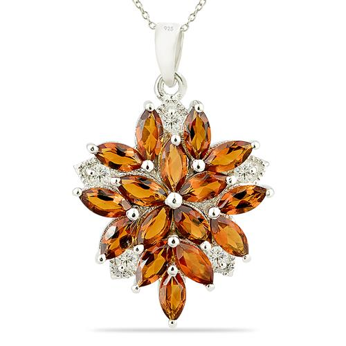 MADEIRA CITRINE PENDANT WITH ZIRCON