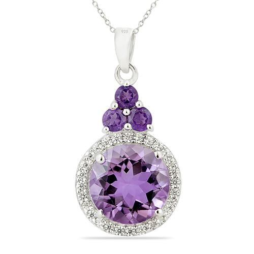 BRAZILIAN AMETHYST PENDANT WITH WHITE ZIRCON #VP015800