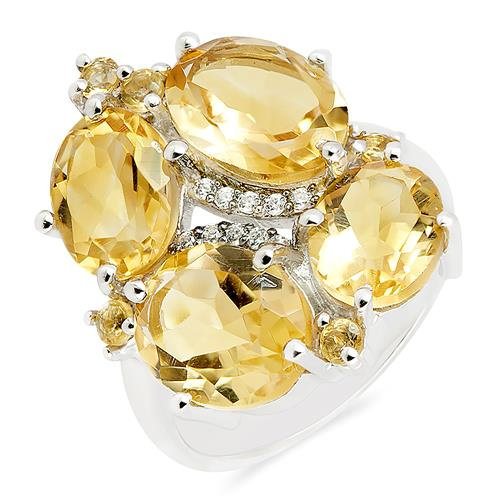 CITRINE RING WITH ZIRCON #VE07922