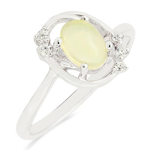 ETHIOPIAN OPAL RING WITH ZIRCON