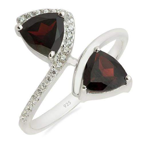 GARNET RING WITH WHITE ZIRCON #VR013131