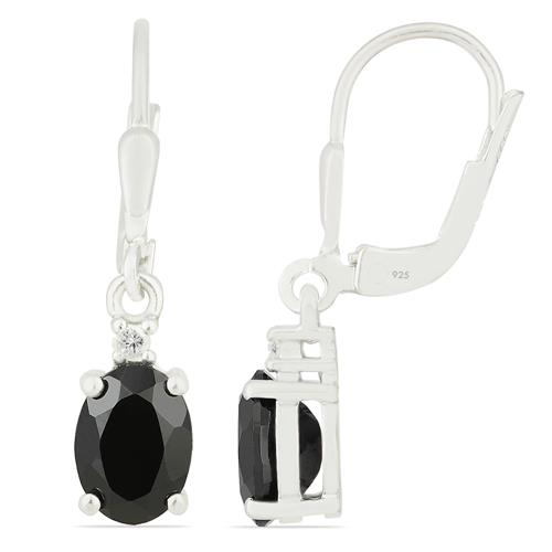 BLACK ONYX EARRING WITH ZIRCON #VE016667