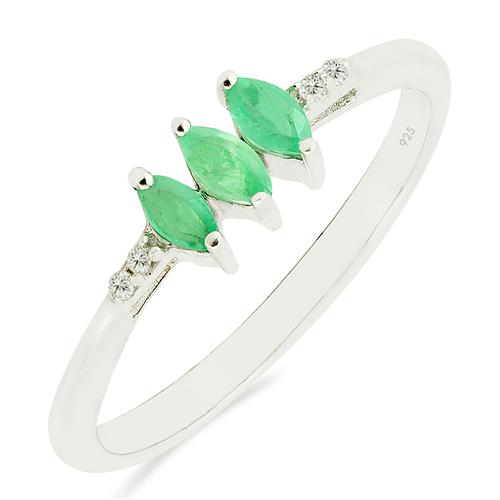 EMERALD RING WITH ZIRCON #VR018255