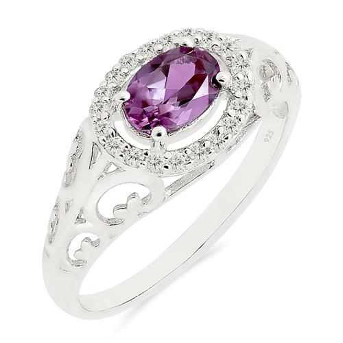 RHODOLITE RING WITH ZIRCON