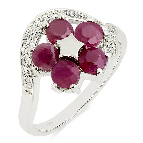 RUBY RING WITH ZIRCON