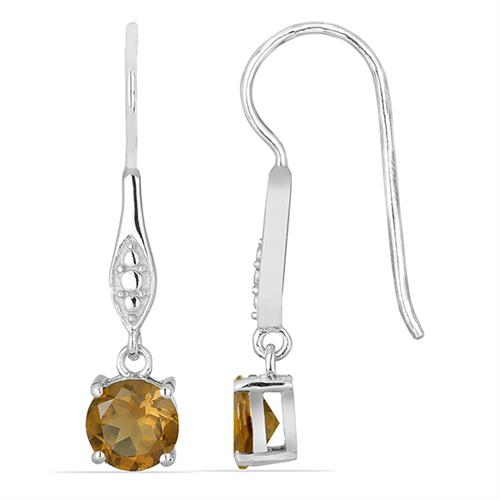 WHISKY QUARTZ SILVER EARRING #VE018045