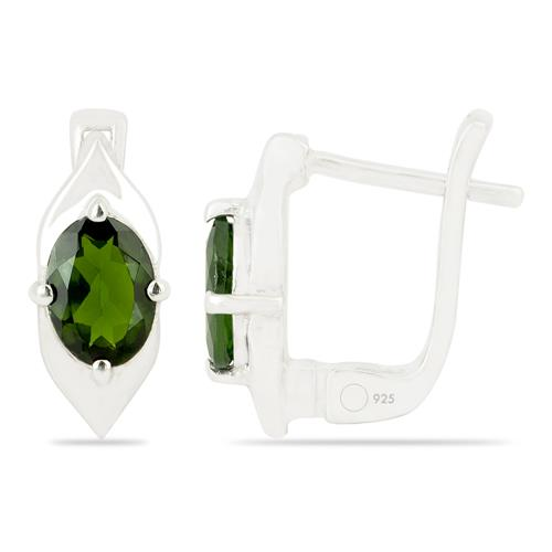 CHROME DIOPSITE EARRING