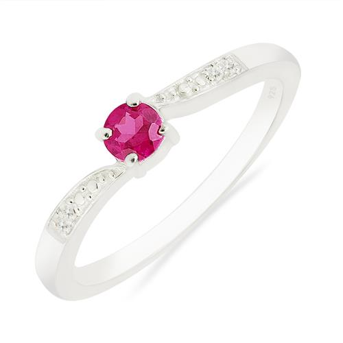PINK TOPAZ RING WITH ZIRCON